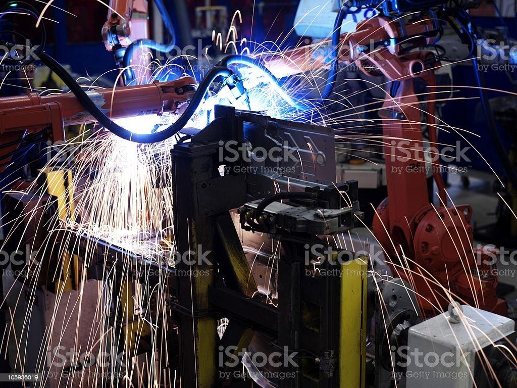 car manufacturing royalty-free stock photo