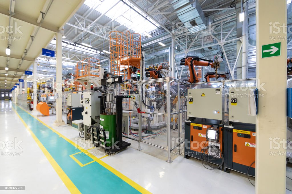 The plant of the automotive industry. Shop for the production and...