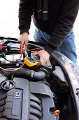istock Car mechanic at work 1219594486
