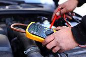 istock Car mechanic at work 1219594604