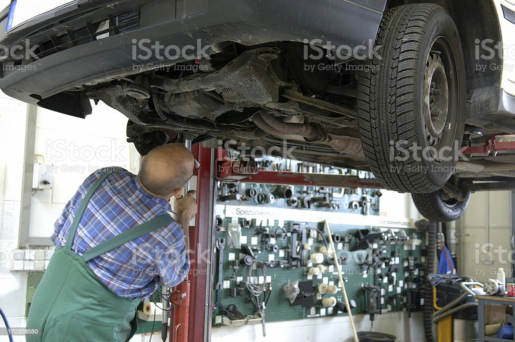 Car mechanic royalty-free stock photo