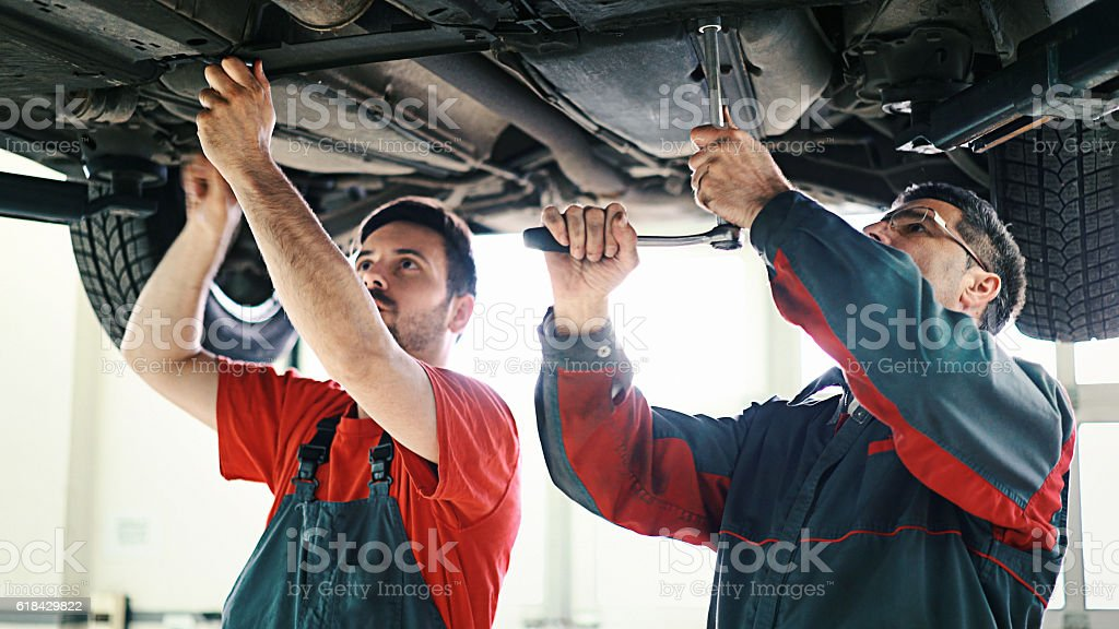 Car mechanics. stock photo