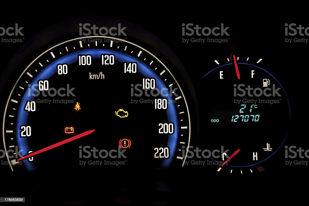 Car meter stock photo