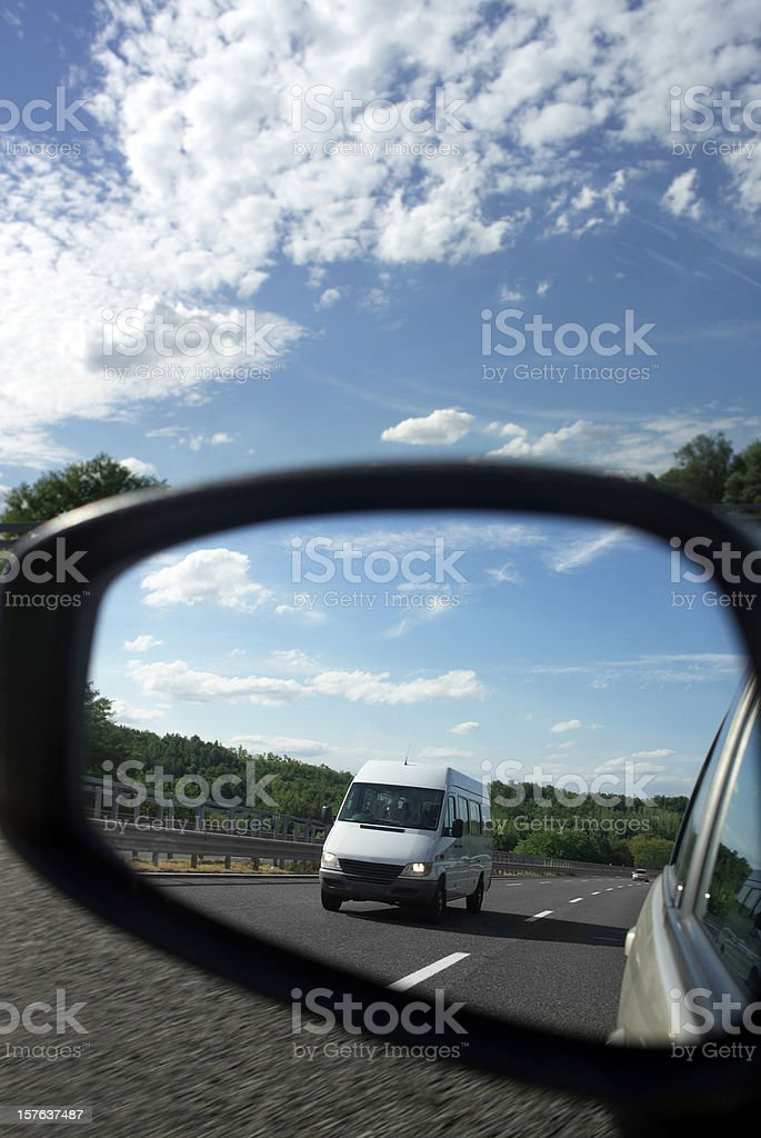 Car Mirror. Color Image royalty-free stock photo