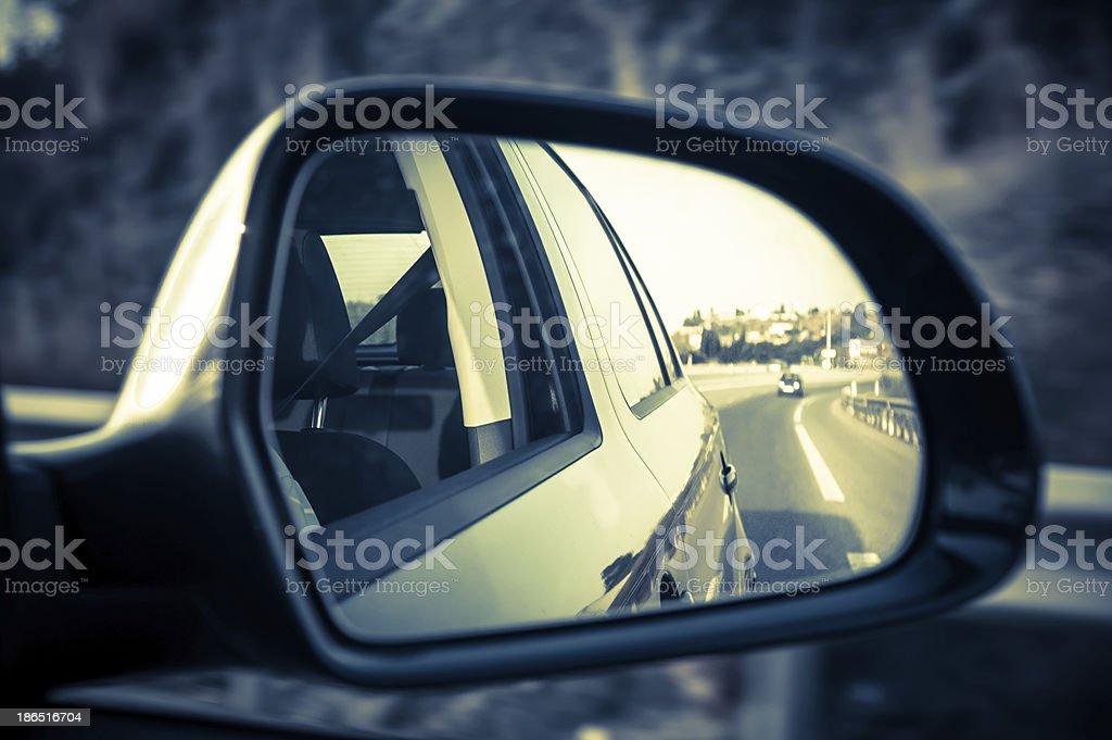 car mirror royalty-free stock photo