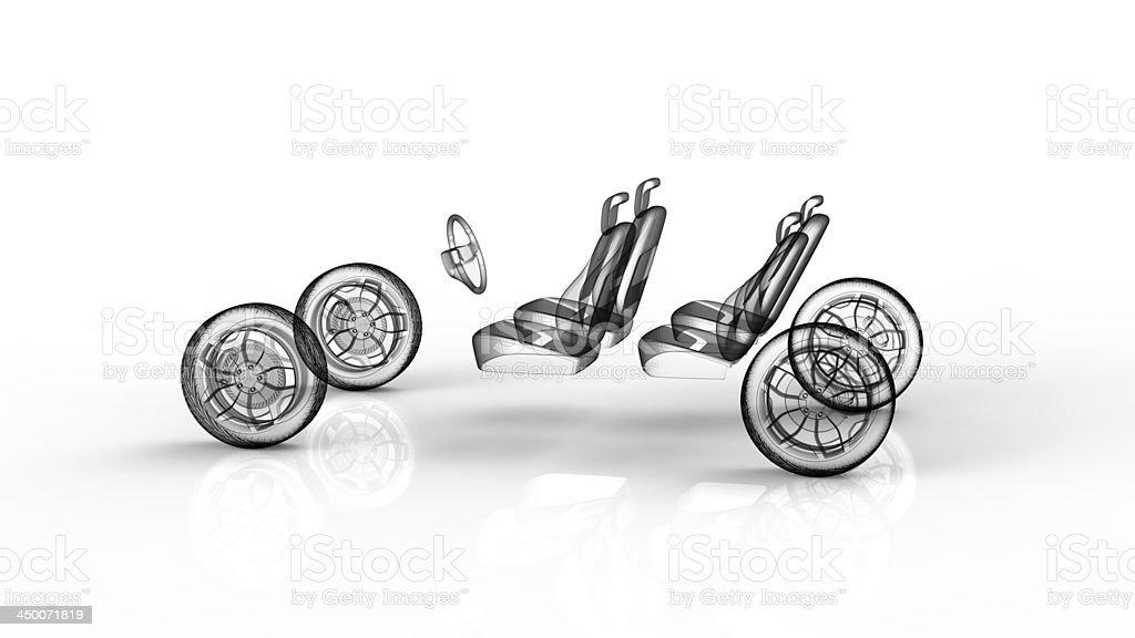 Modelo de coche foto de stock libre de derechos