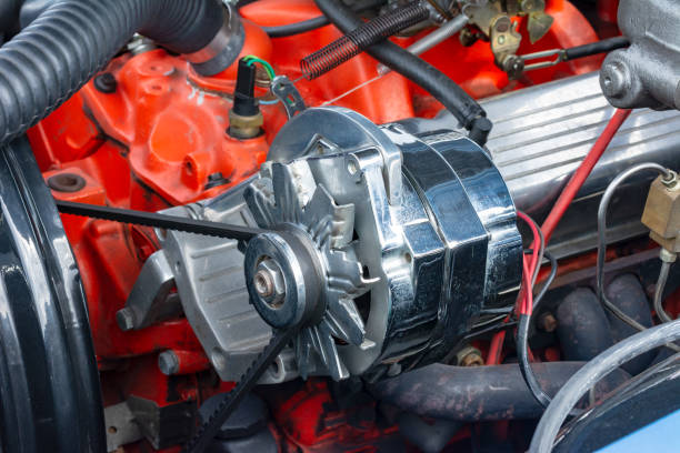 Automotor von einen Oldtimer – Foto
