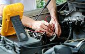 istock Car motor repair 1151667449