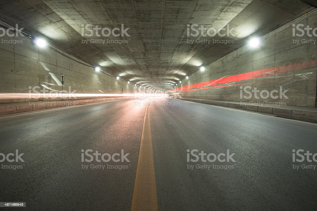 car moving in Tunnel royalty-free stock photo