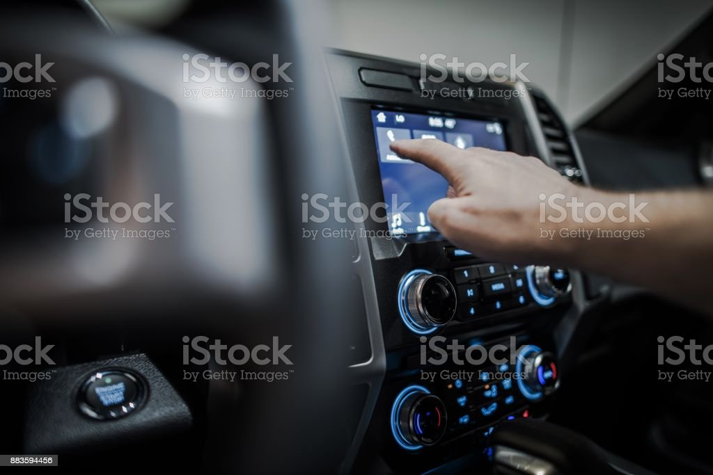 Car Multimedia System stock photo
