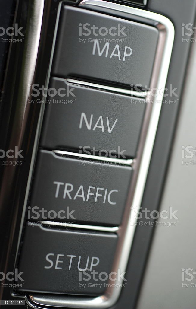 Car navigation royalty-free stock photo