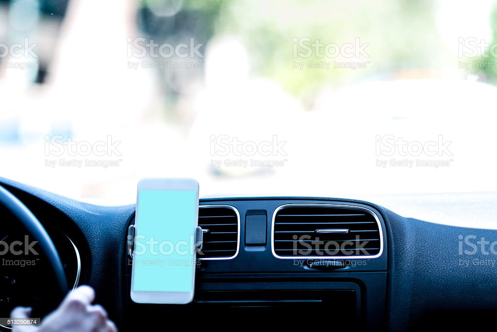 Car navigation stock photo