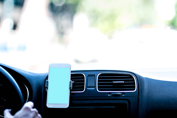car navigation - rideshare stock photos and pictures