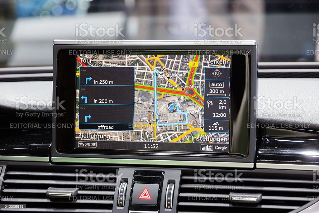 Car navigation stock photo