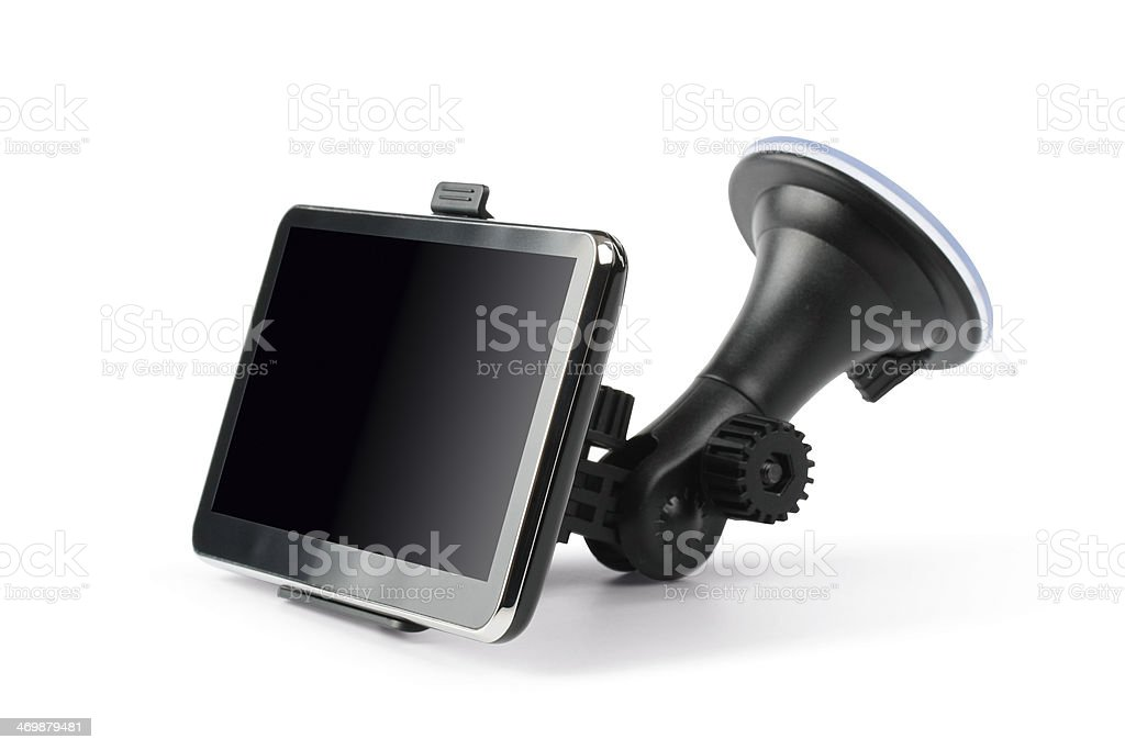 GPS - car navigation system  (clipping path) royalty-free stock photo
