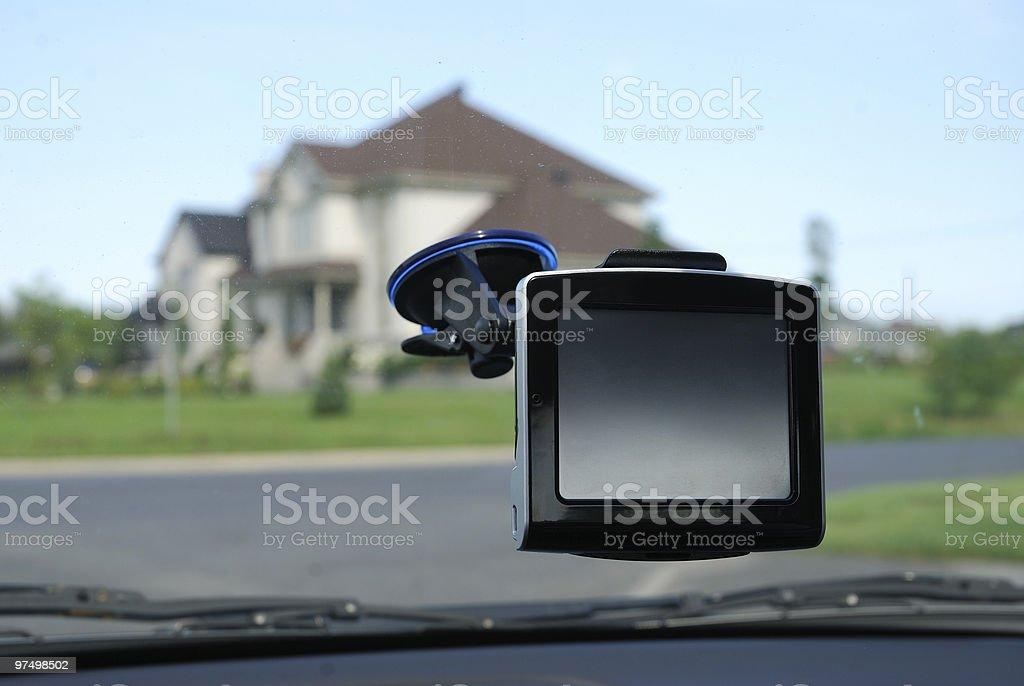Car navigation system royalty-free stock photo