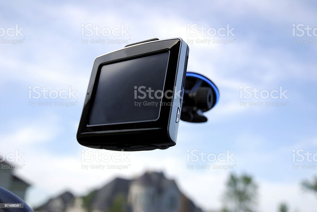 Car navigation system royalty-free stock photo