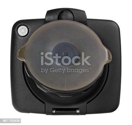 istock GPS car navigation with handle. Black electronic map device. 961783806