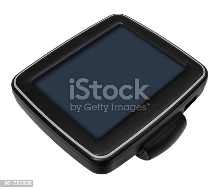 istock GPS car navigation with handle. Black electronic map device. 961783808