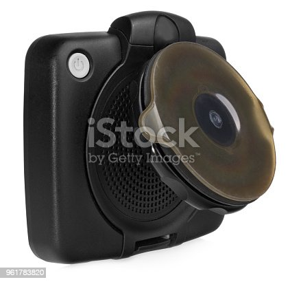 istock GPS car navigation with handle. Black electronic map device. 961783820