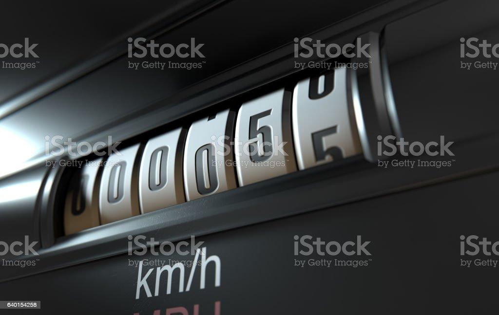 Car Odometer New stock photo