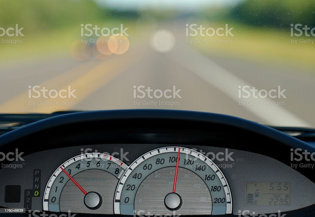 Car Odometer royalty-free stock photo