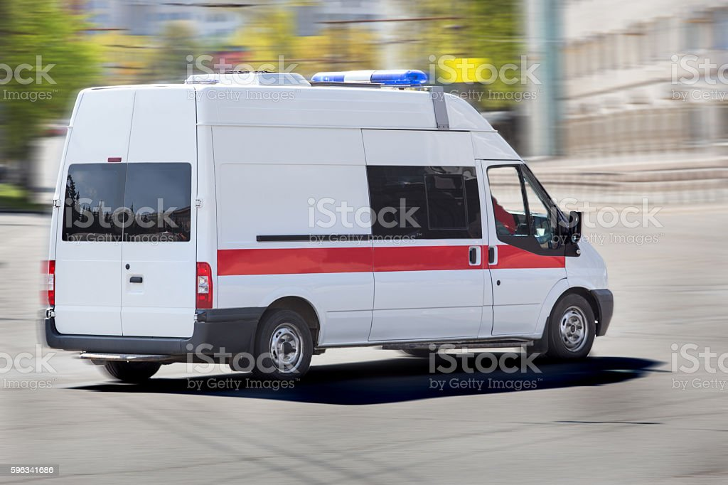 car of an emergency medical service stock photo