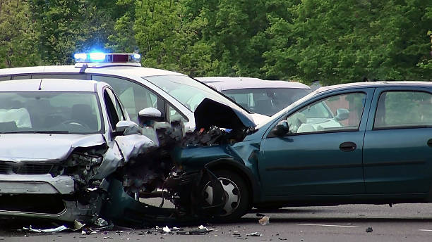 car of road accident - car accident stock photos and pictures