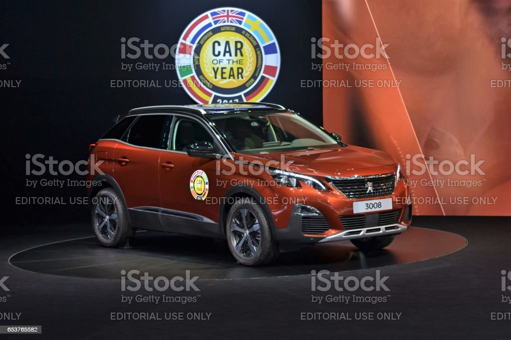 Car of the Year 2017 - Peugeot 3008 stock photo