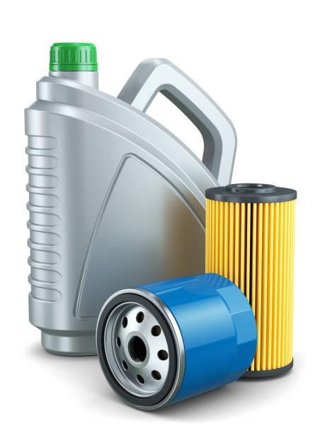 Auto-Ölfilter und Motoröl Kunststoffdose – Foto