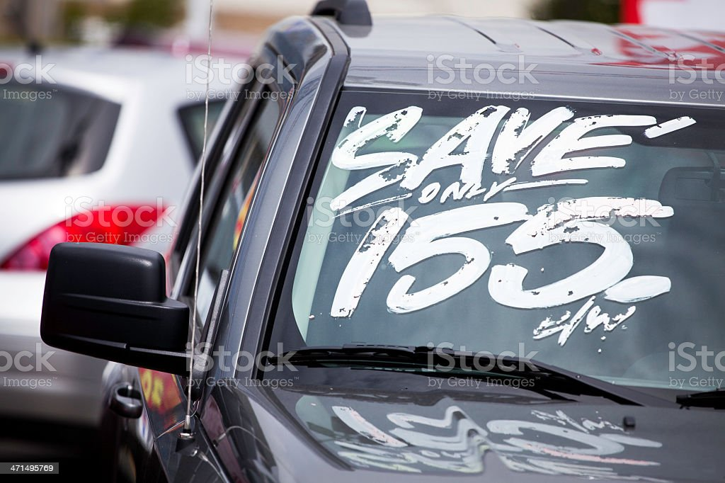 Car on Dealership Lot royalty-free stock photo