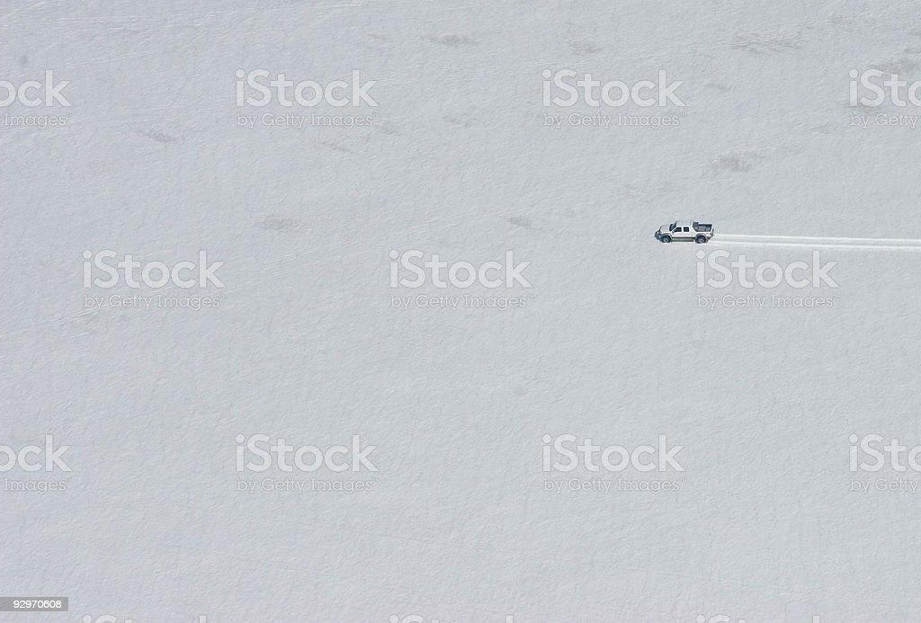 Car on glacier royalty-free stock photo