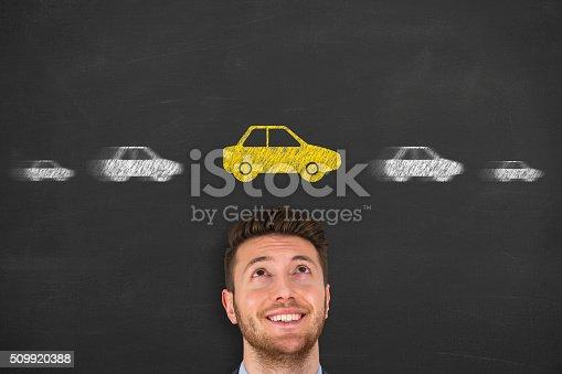 istock Car on Hand 509920388
