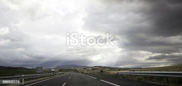 639525926 istock photo Car on Highway 696500174