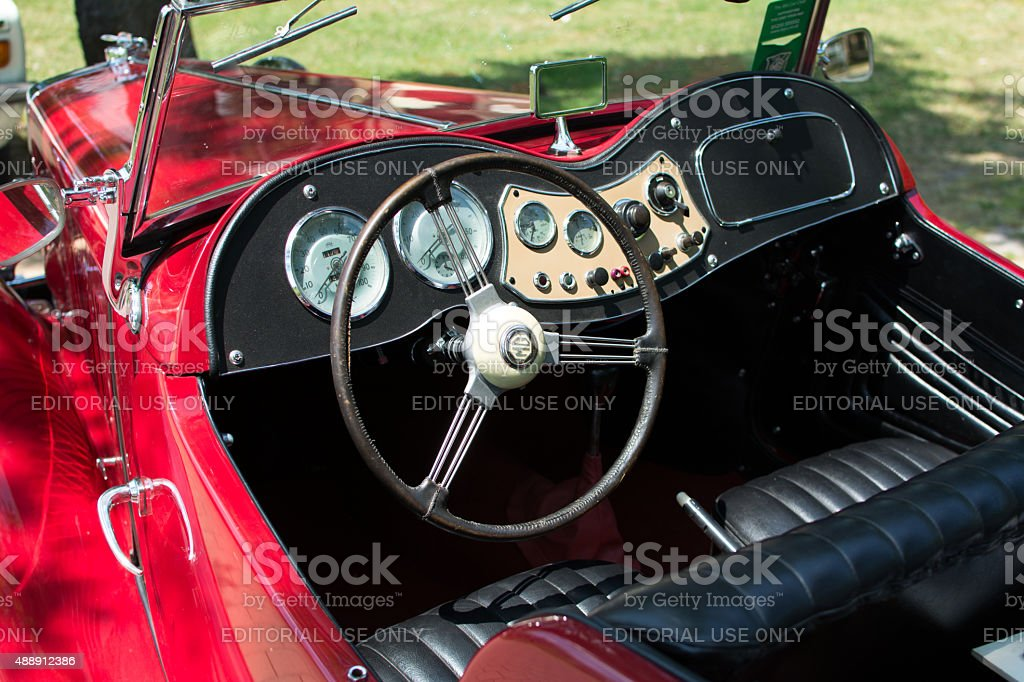 MG car on public annual public oldtimer car show stock photo