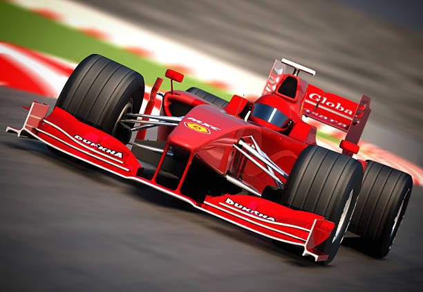 f1 car on racetrack, clipping path included - formula 1 個照片及圖片檔