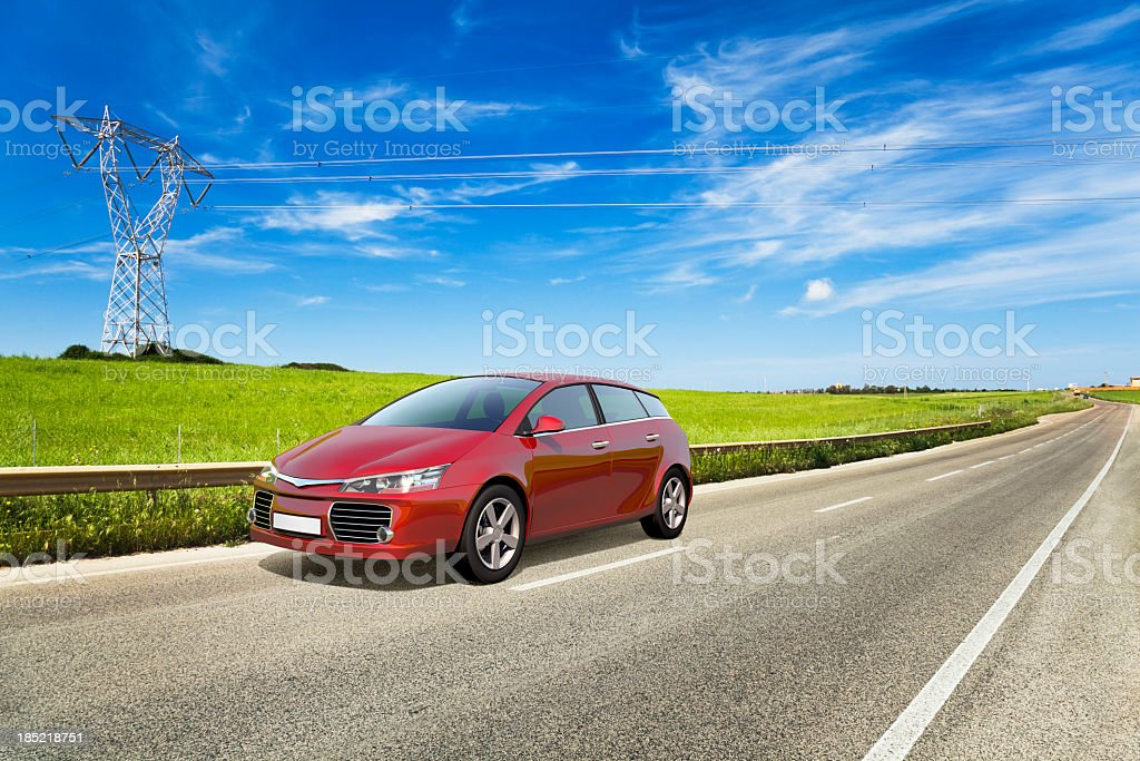 Car on road royalty-free stock photo