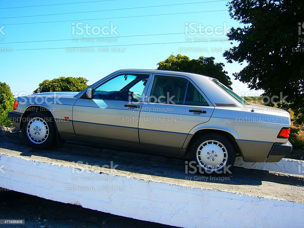 Car on the overpass royalty-free stock photo