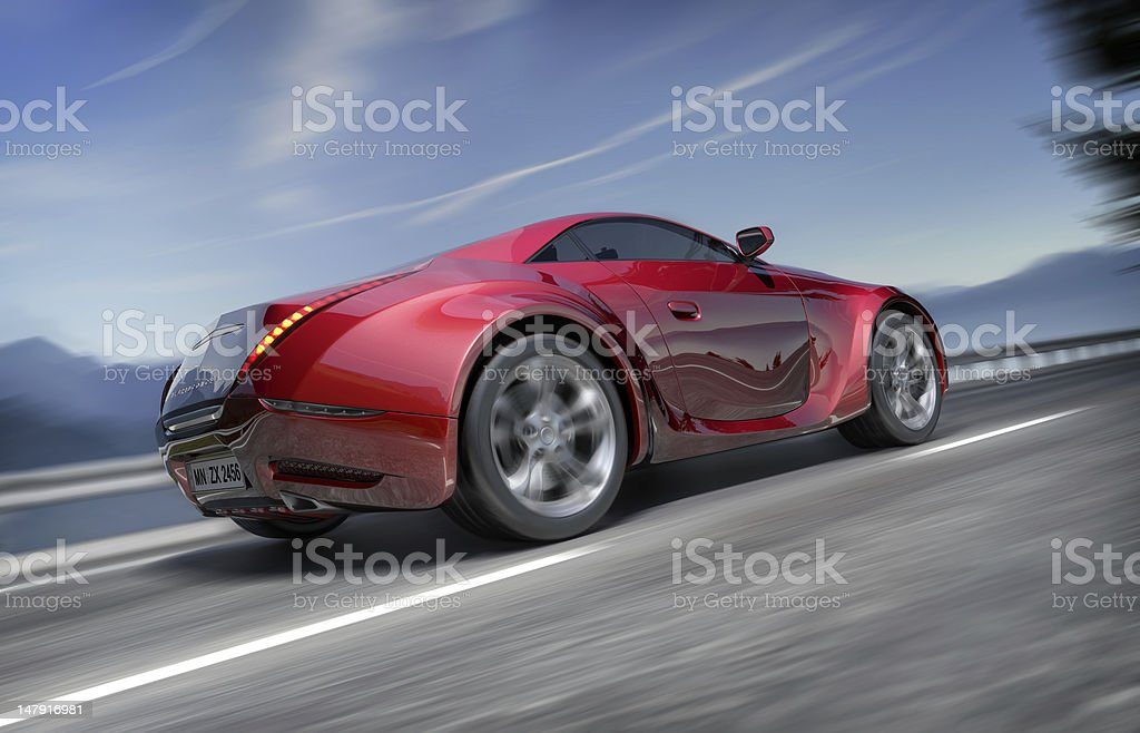 Car on the road stock photo