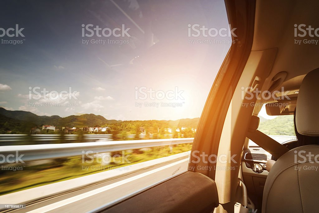 car on the road royalty-free stock photo