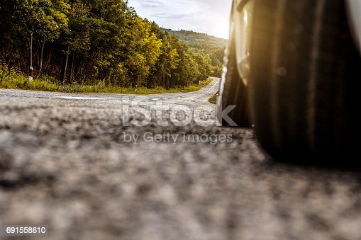 Car on the open road