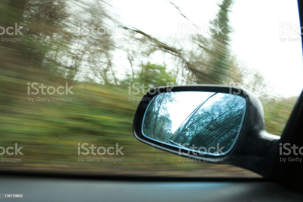 car on the road wiht motion blur background royalty-free stock photo
