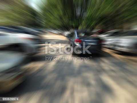 640042252 istock photo car on the road with motion blur background 930639974