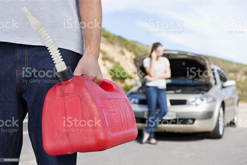 Car Out of Gas stock photo