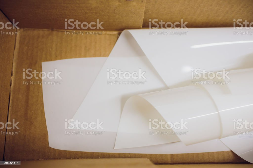 Car paint protection, protect coating installation in the box royalty-free stock photo