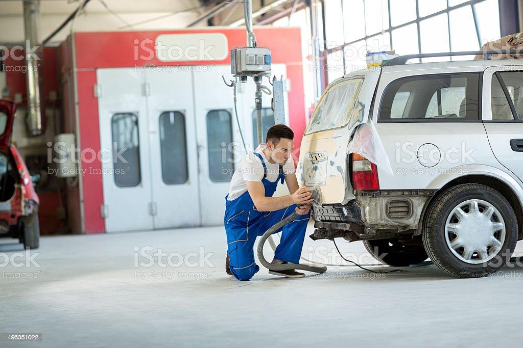 Auto Maler bereiten body part – Foto
