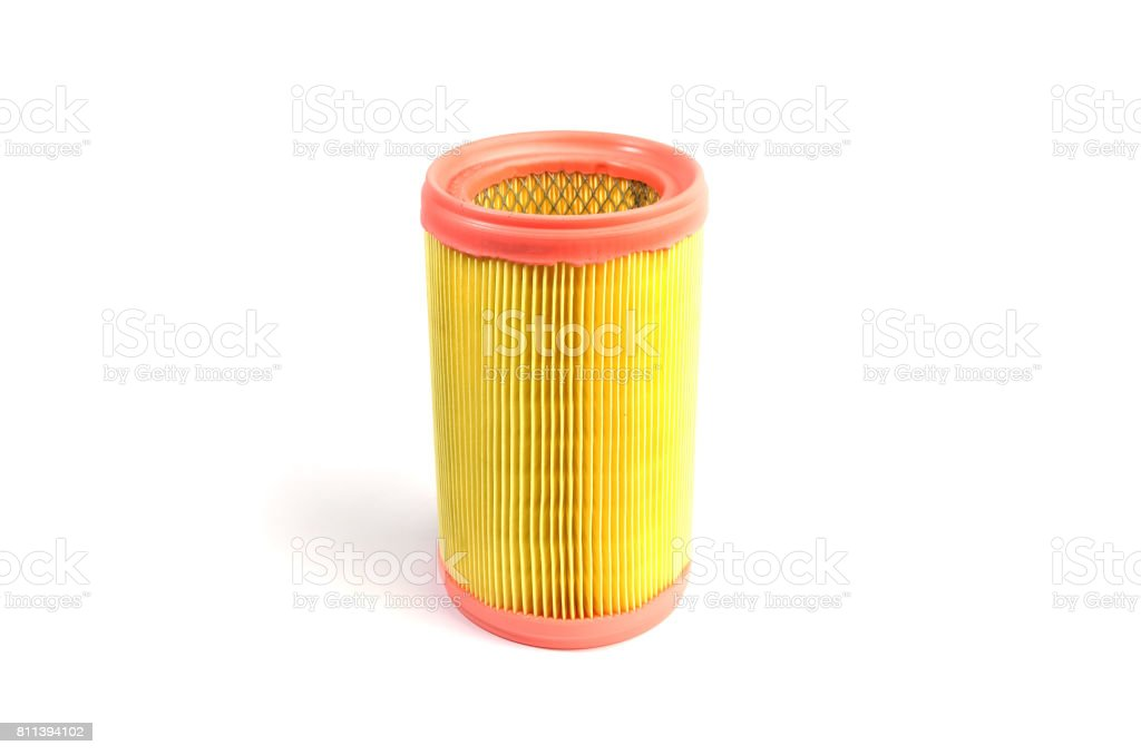 Car paper air filter of the engine or passenger compartment stock photo