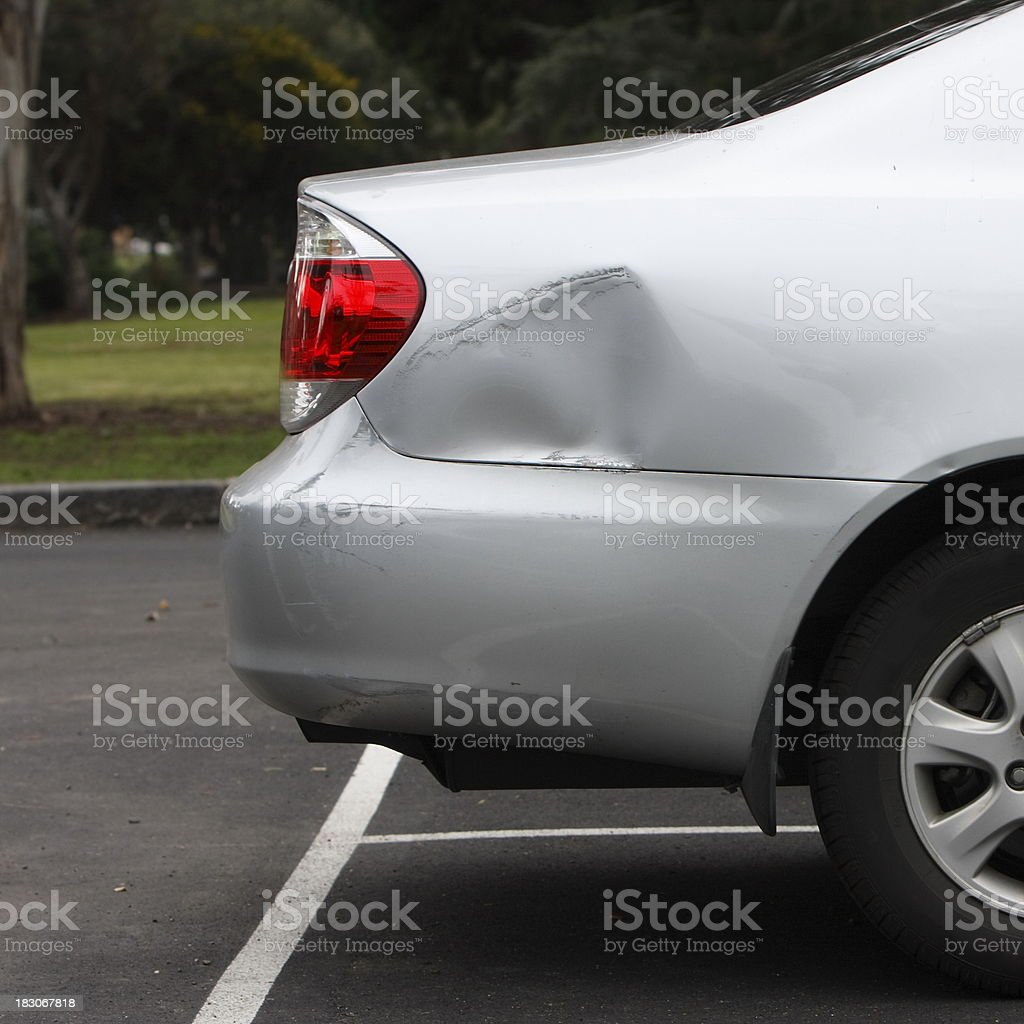 Car Park Accident stock photo