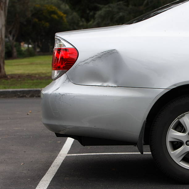 car park accident - dent stock pictures, royalty-free photos & images