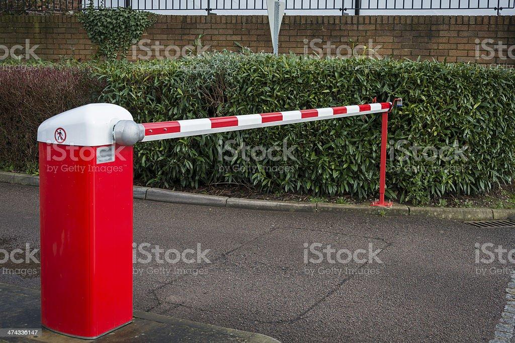 Car park barrier stock photo